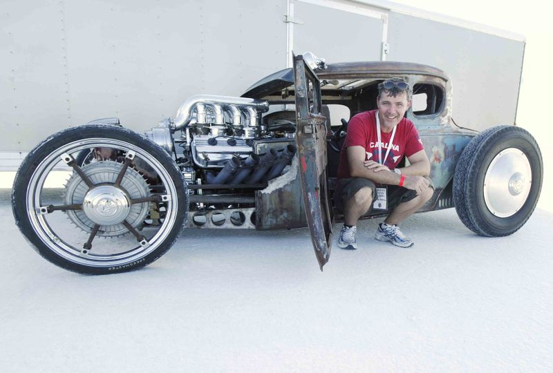 Twin blown rat rod
