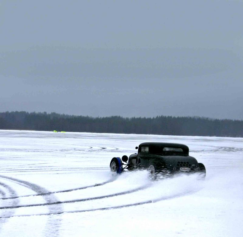 Hot rod on ice